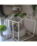 Children's Basic Wooden Floor House Bed Frame