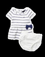 Nautica Two-Piece Striped Terry Dress & Shorts Set 3-6mos.