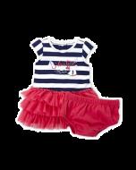 Nautica Two-Piece Stripe Logo Tutu Dress & Bloomers Set - 3-6mos & 6-9mos