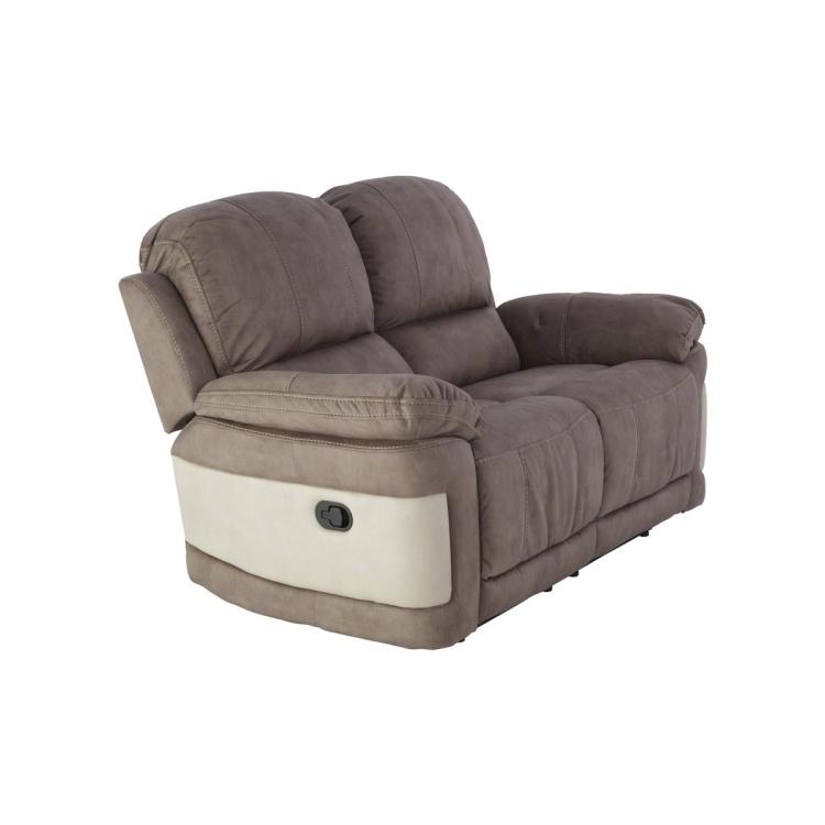 Dawson Tufted 2-Seater Recliner Sofa - Teak and Beige