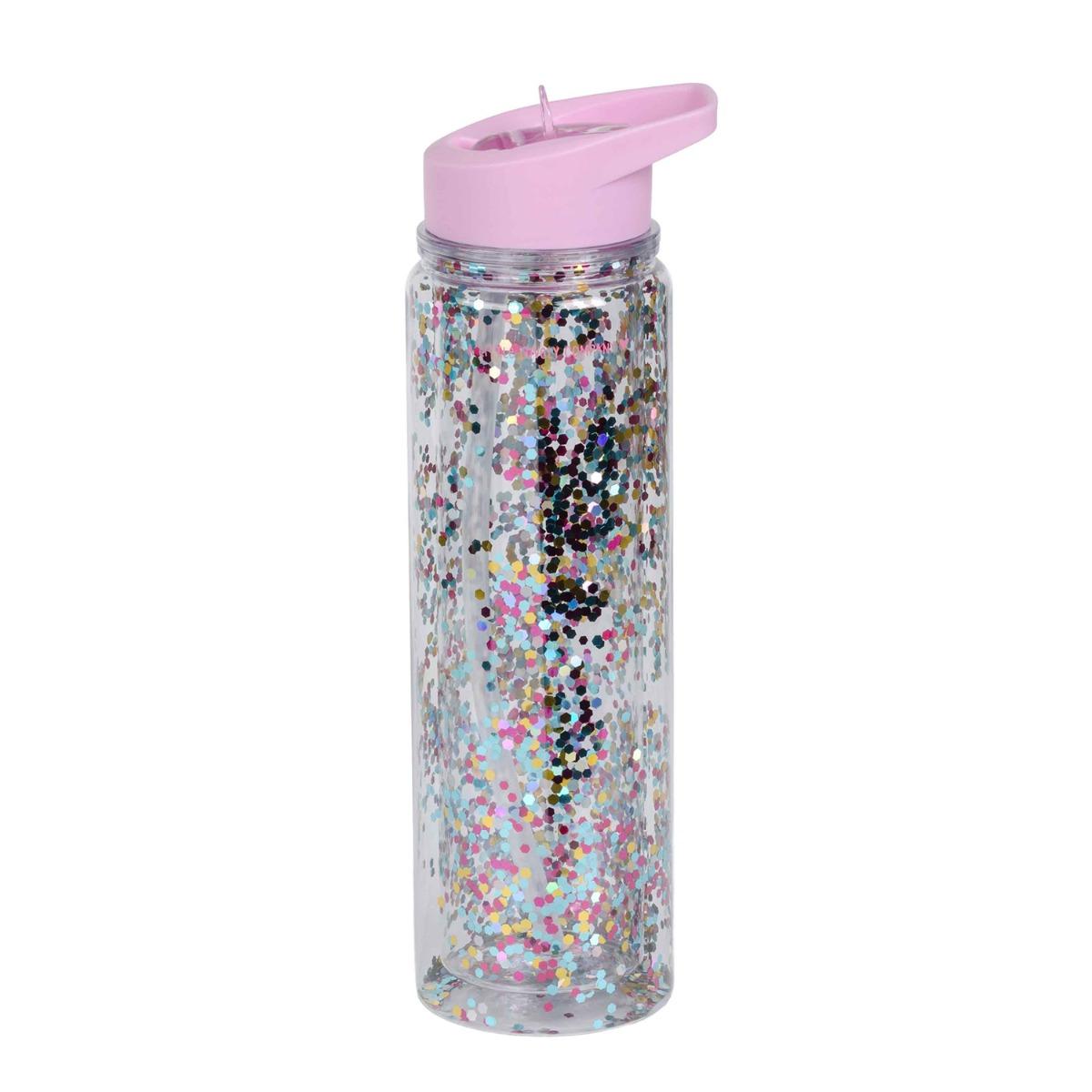 Drink bottle XL - Glitter - pink/multicolour