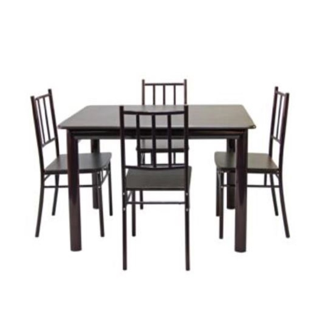 Dining Set Rect Table 4chair Walnut
