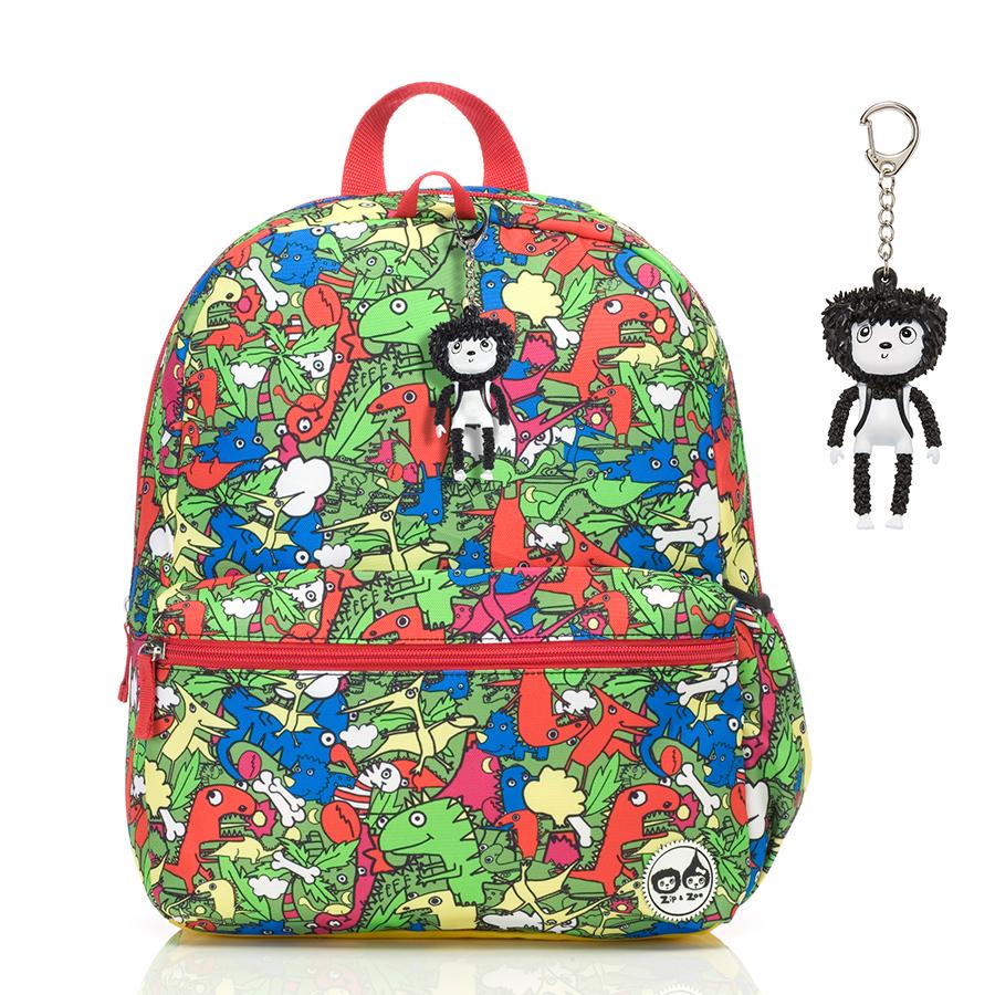 Zip and Zoe Junior Kid's Backpack (4-9Y) Dino Multi