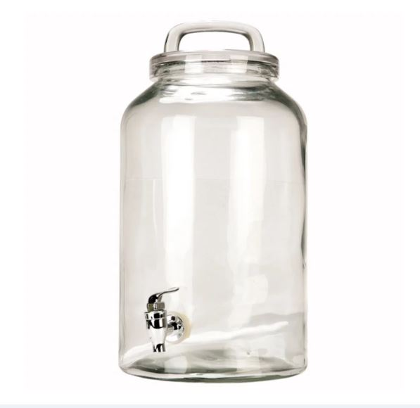Glass Icecold  Beverage Dispenser