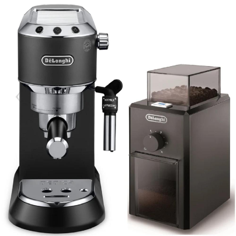 De'Longhi Dedica Style Pump Espresso Machine, Black, EC685.BK+KG79 (BUNDLE)