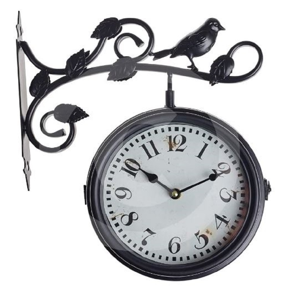 The Garden & Home Co. 17232 Aviary Clock - Black