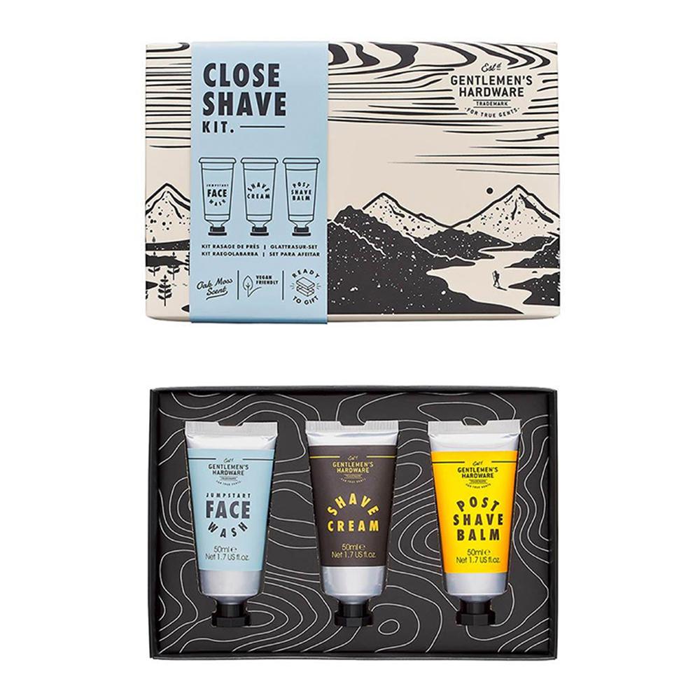 Gentlemen's Hardware Close Shave Kit Set of 3