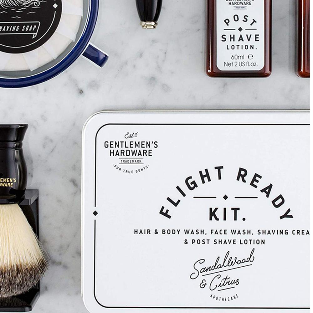 Gentlemen's Hardware Flight Ready Travel Kit Set of 4