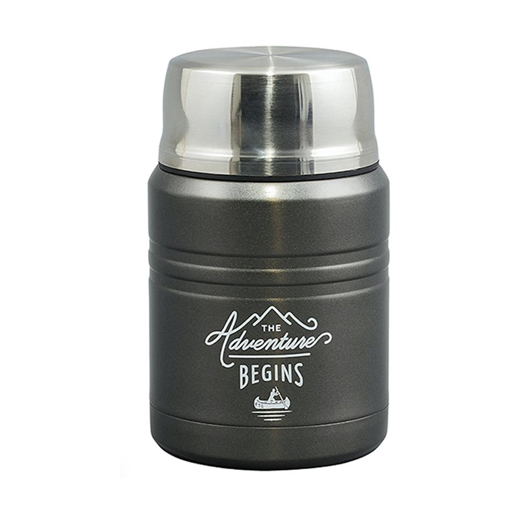 Gentlemen's Hardware Food Flask Stainless Steel Gunmetal