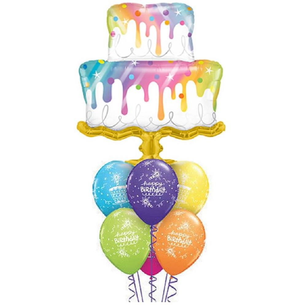 Giant Rainbow Drip Cake Balloon