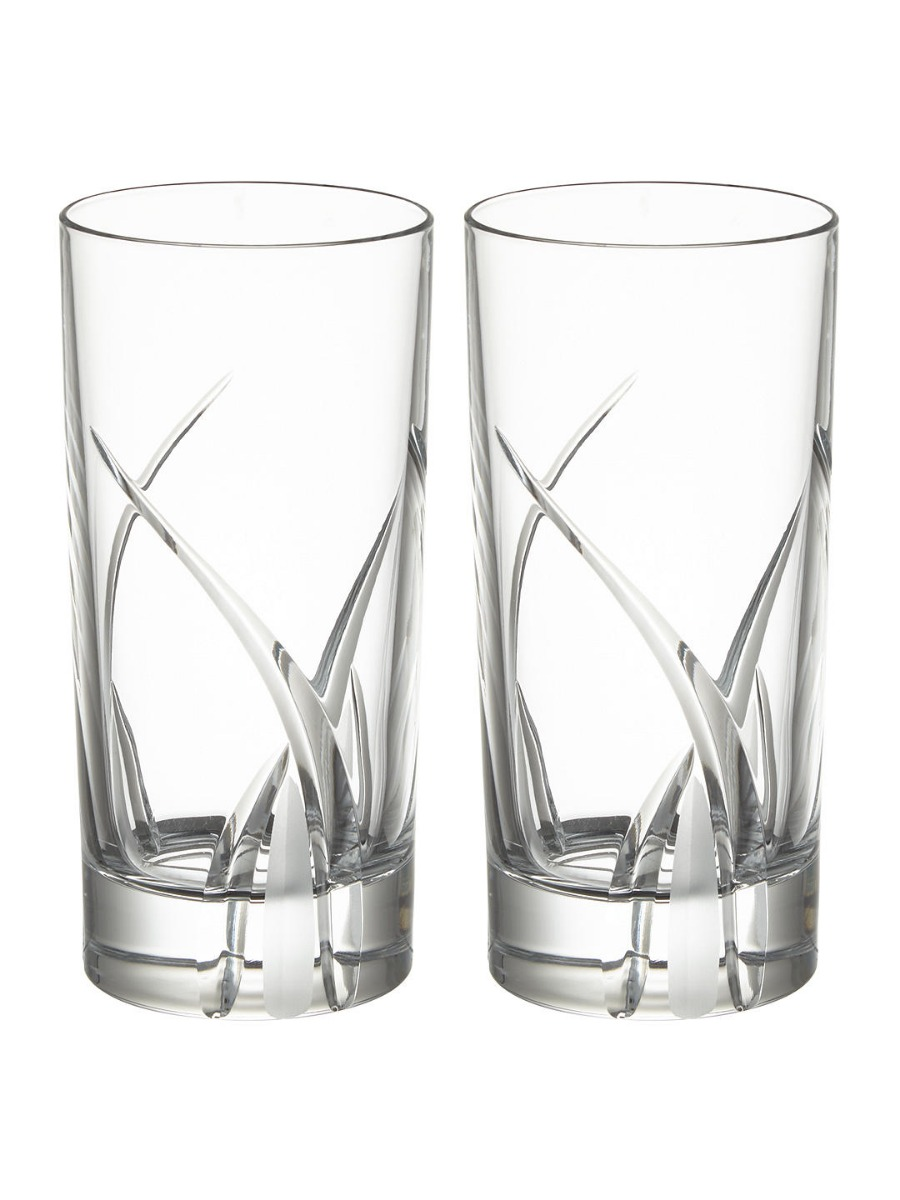 Grosseto Cut Crystal Glass Highballs  Clear