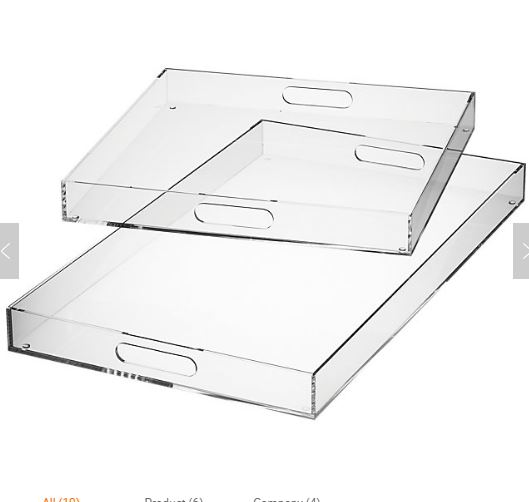 Hertz Tray Plexi Arabesque 35X48 White