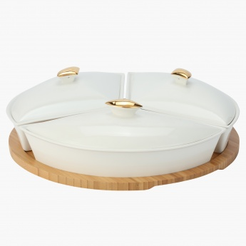 Rabat 3-Piece Serving Set with Round Tray