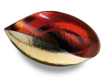 TANGO ORANGE Medium folded bowl