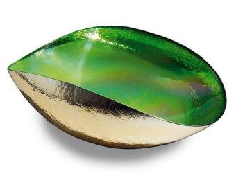 TANGO GREEN Medium folded bowl