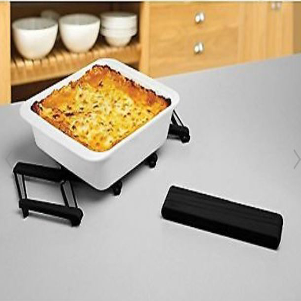 Stretch Expandable Silicone Trivet Black