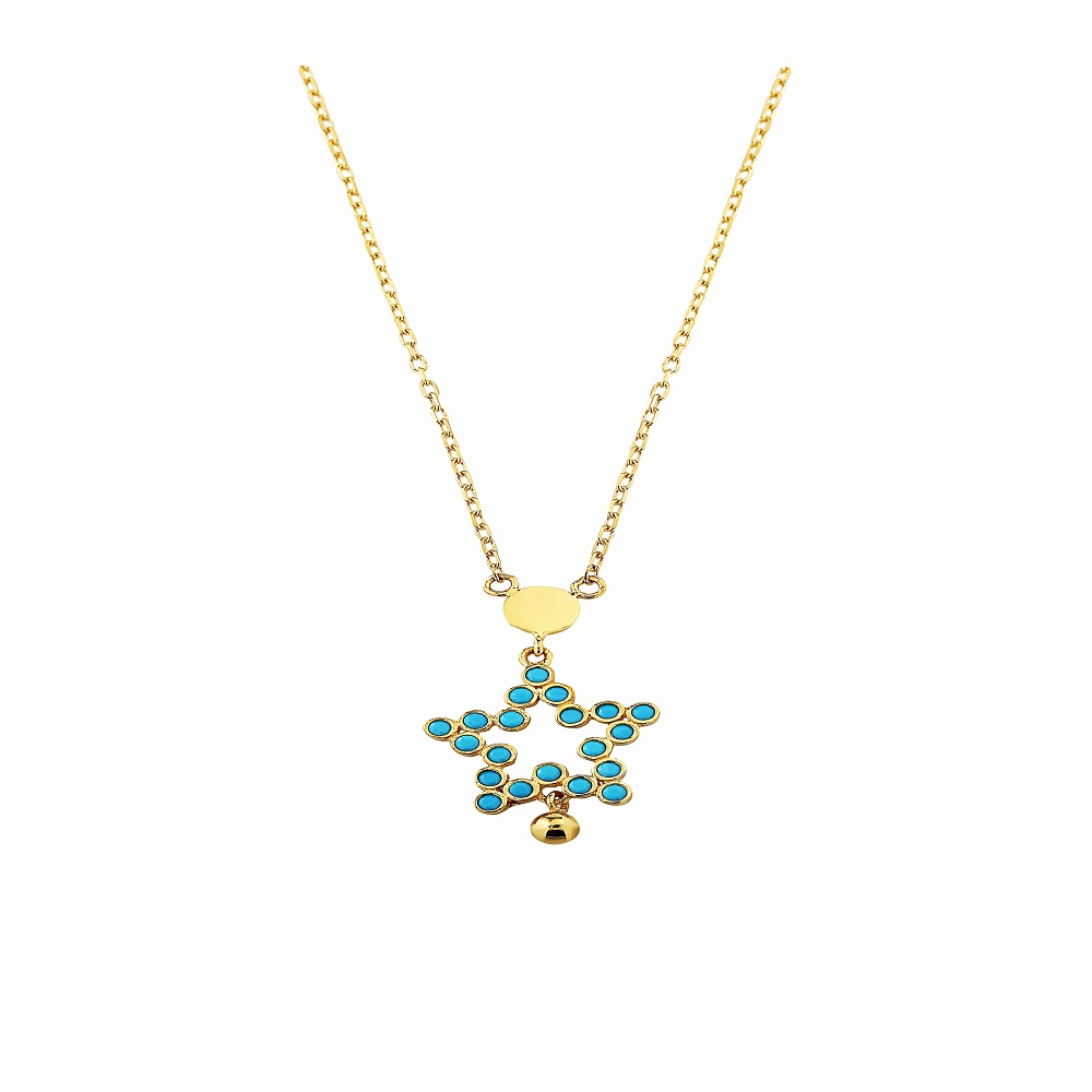 Jou Necklace Star With Turquoise
