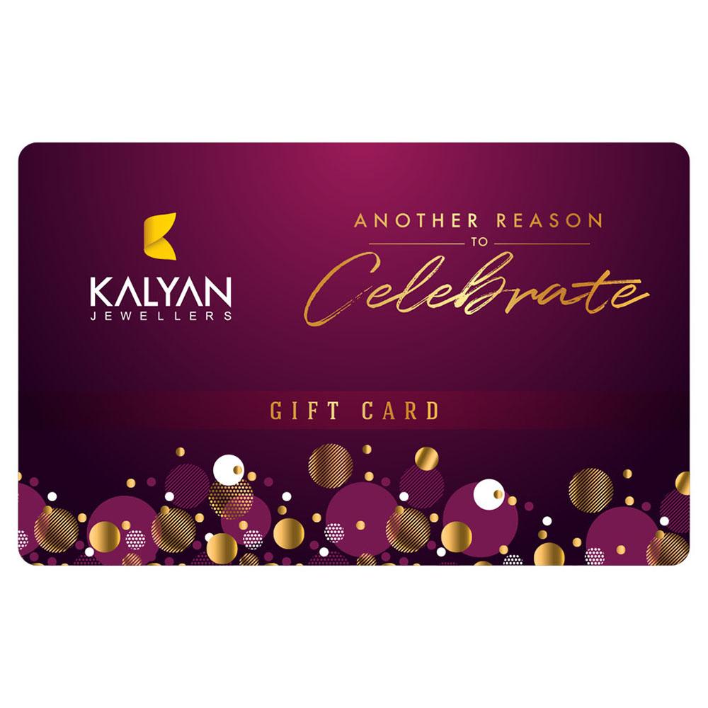 Kalyan Jewellers Gold & Diamond Jewellery E- Gift Card 2000AED