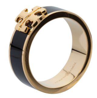Kira Logo Enamel Ring ,Black