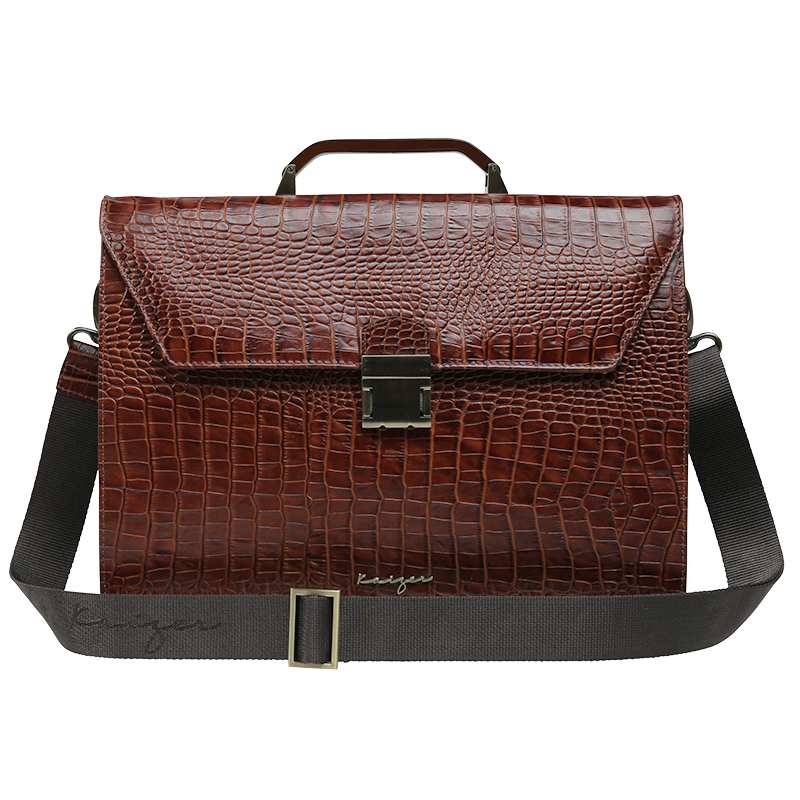 Croco Leather Business Bag