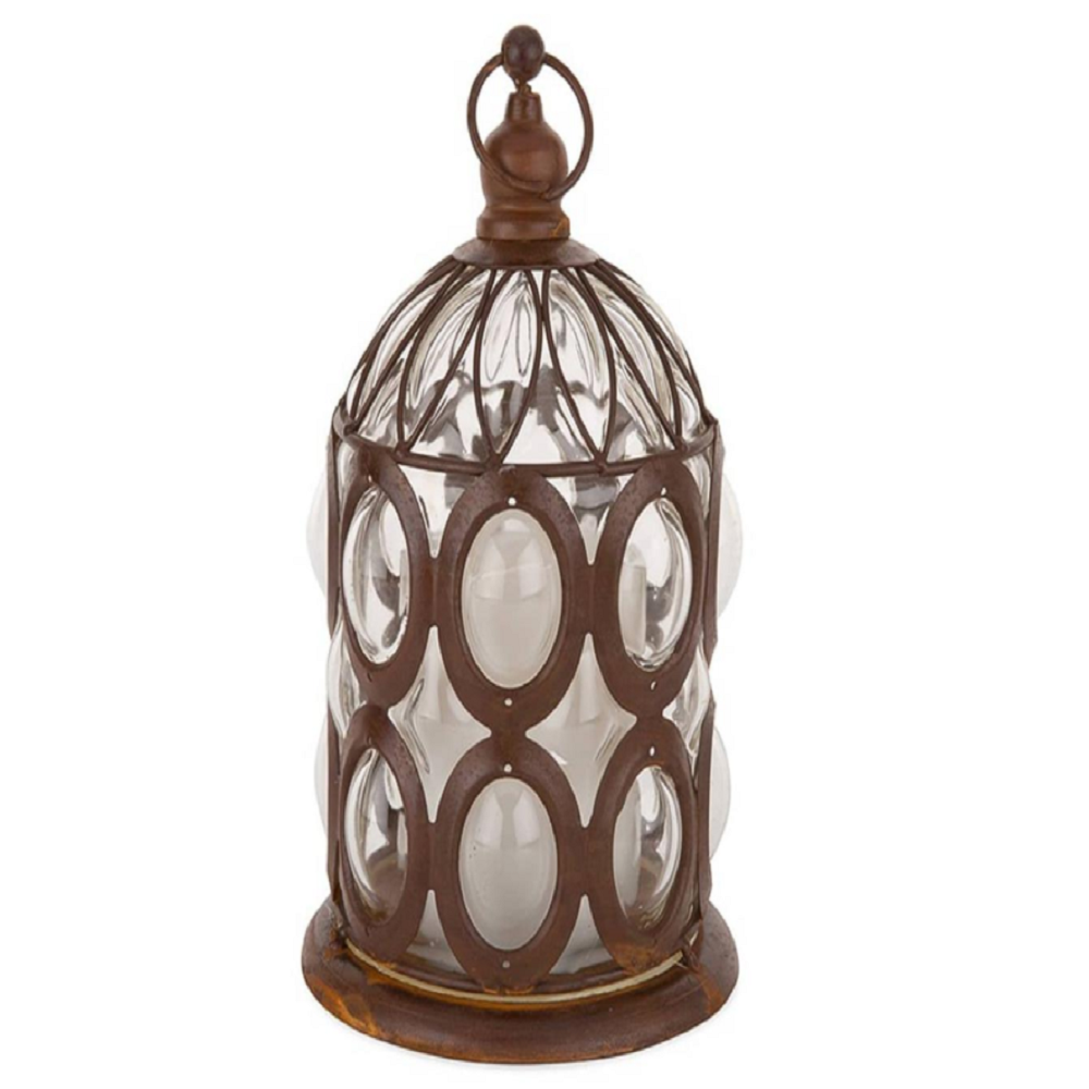 Living Space Battery-Operated Antique Look Glass Lantern