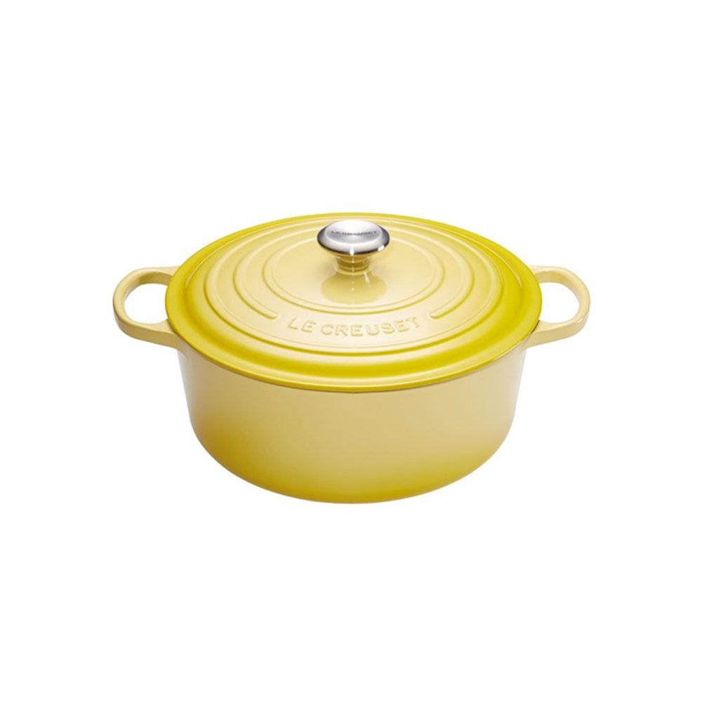 كسرولة مستديرة، لون أصفر، قطر 24 سنتم، لو كروزي-