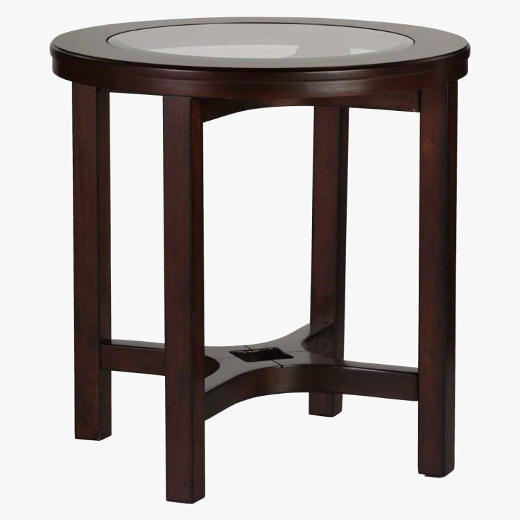 Malmo End Table - Dark Walnut