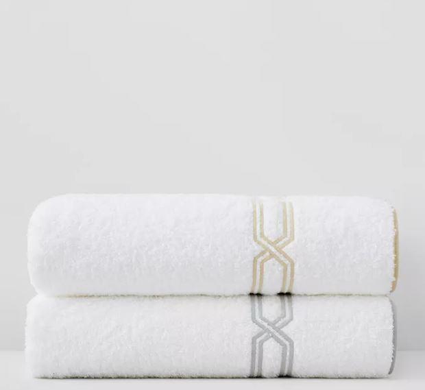Matouk Fiorentina Bath Towel Linen Beige