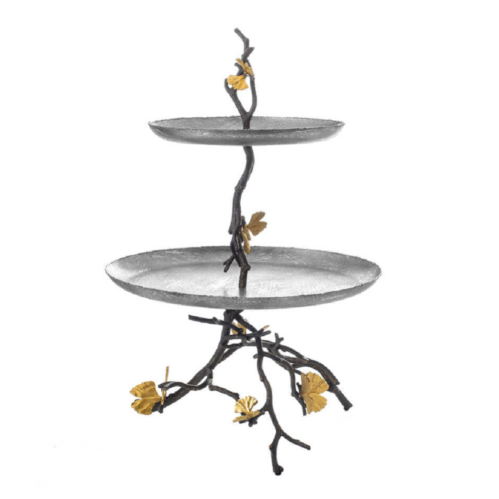 Michael Aram Butterfly Ginkgo Two Tier Etagere