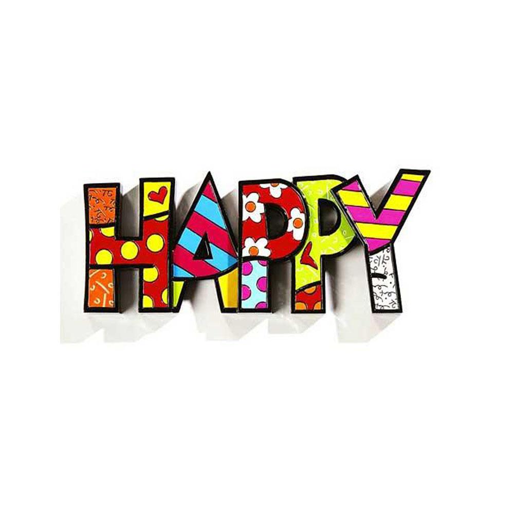 Romero Britto Mini Word Happy