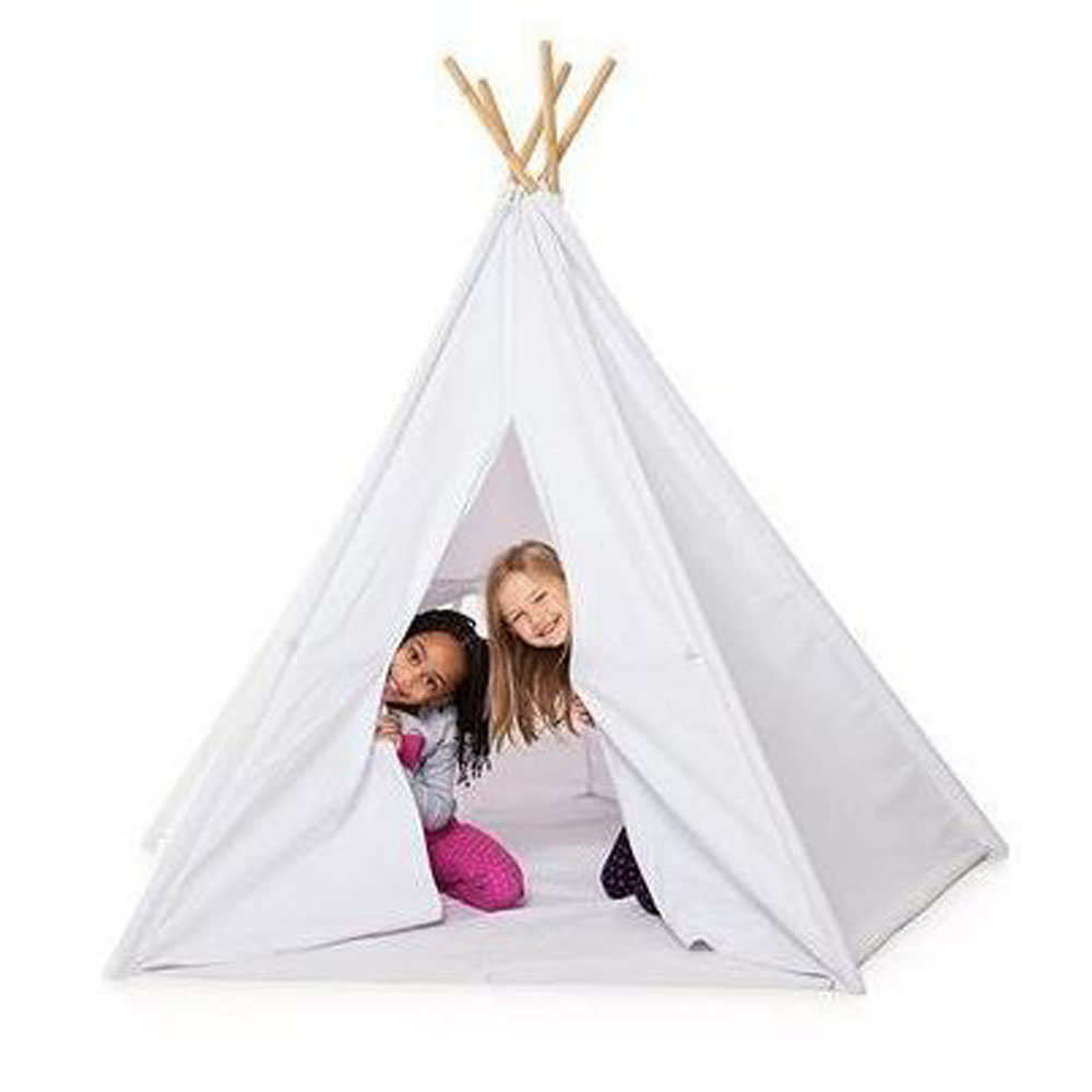 White Cotton Canvas Teepee Tent
