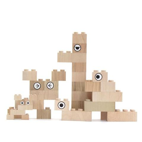 Mokulock Wooden Bricks (34 pieces)