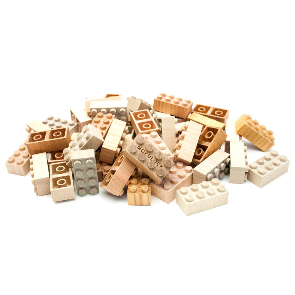 Mokulock Wooden Bricks (60 pieces)