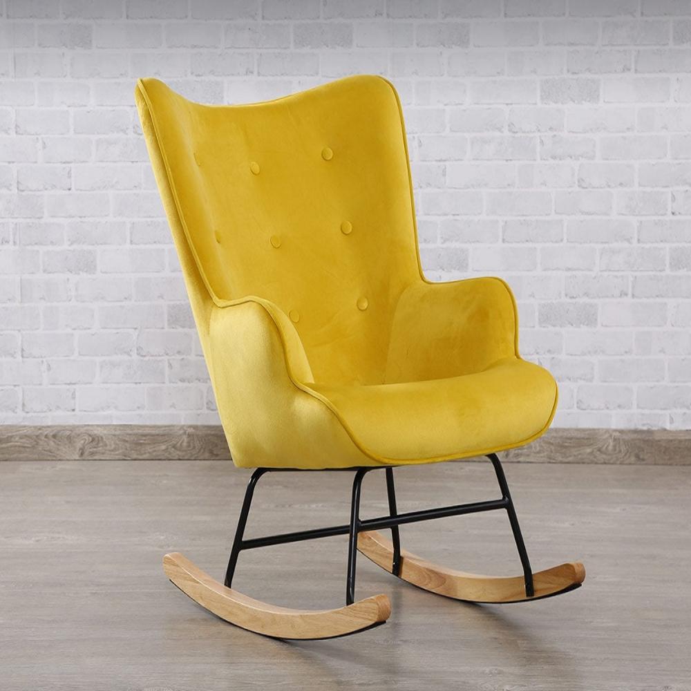 Rocking Chair Yellow Mustard