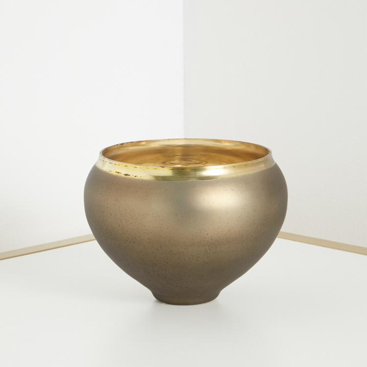 Omis HS Neutral glaomur Aluminum & GlassRound Vase 13x17cm - Bronze