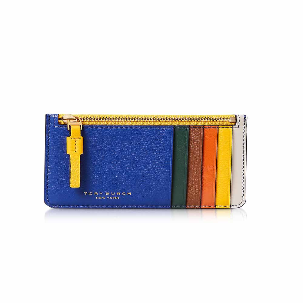 Perry Color-Block Top Zip Card Case