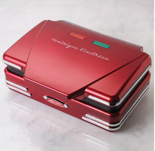 Nostalgia Retro Red Belgian Waffle Maker