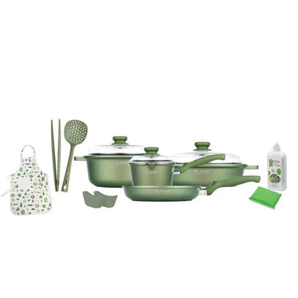 Risoli set cook ware Dr.green 11 pcs