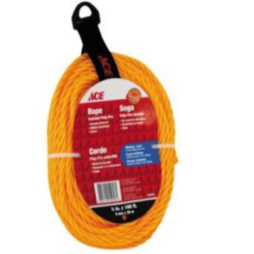 حبل بولي مجدول 1/4 بوصة × 100 قدم