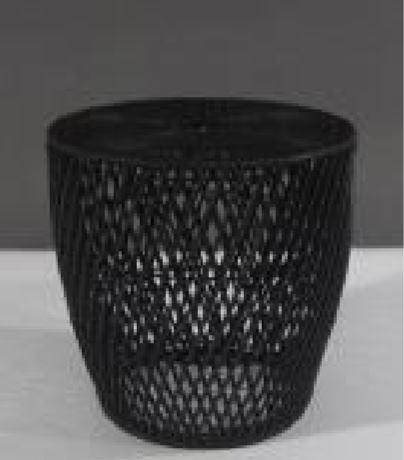 Side Table End Weaker Weave Black