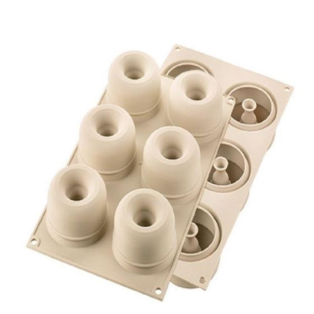 صينية 6 قوالب صغيرة أرينا ثلاثيّة الأبعاد، سيليكومارت-Silikomart