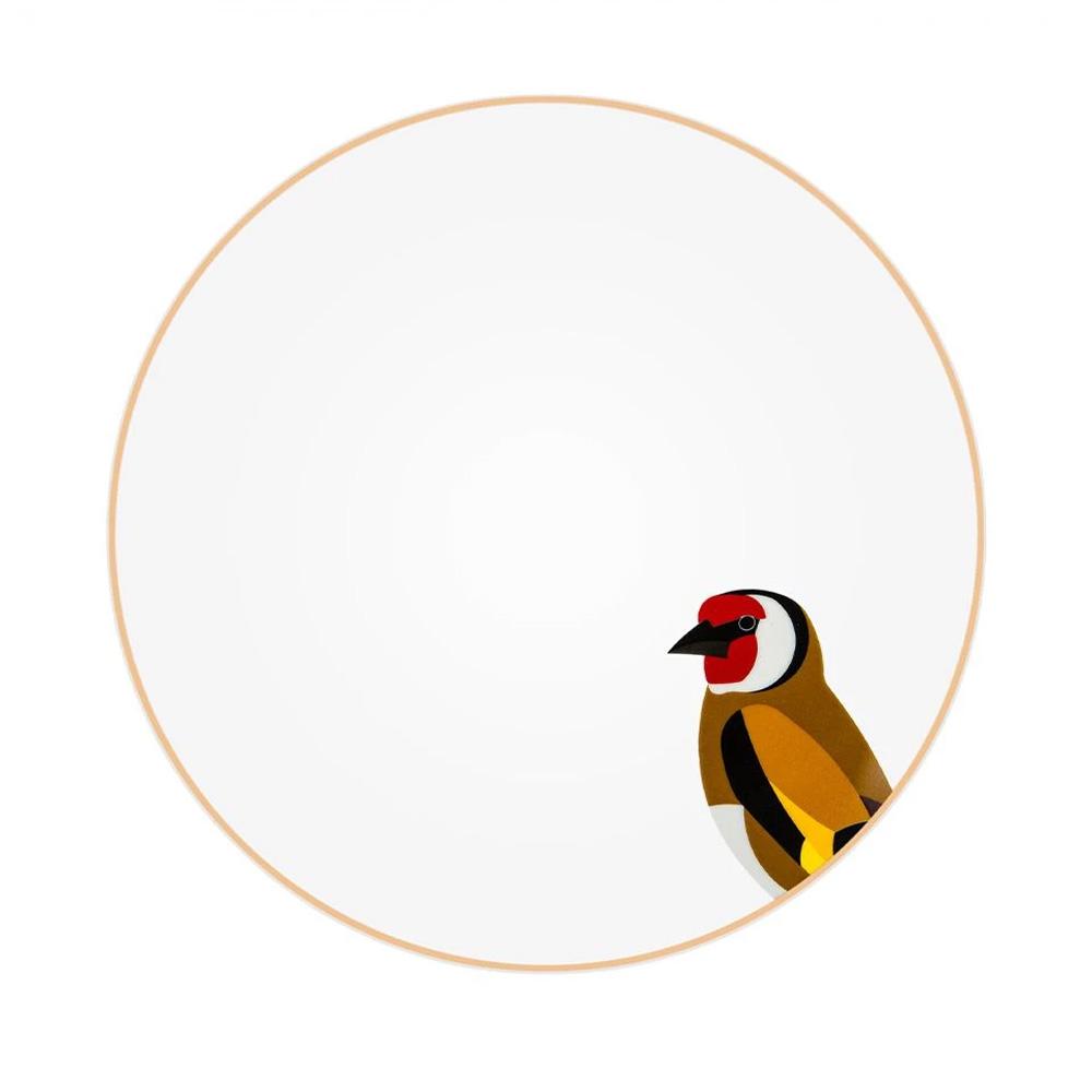 Silsal Sarb Dinner Plate - European Goldfinch