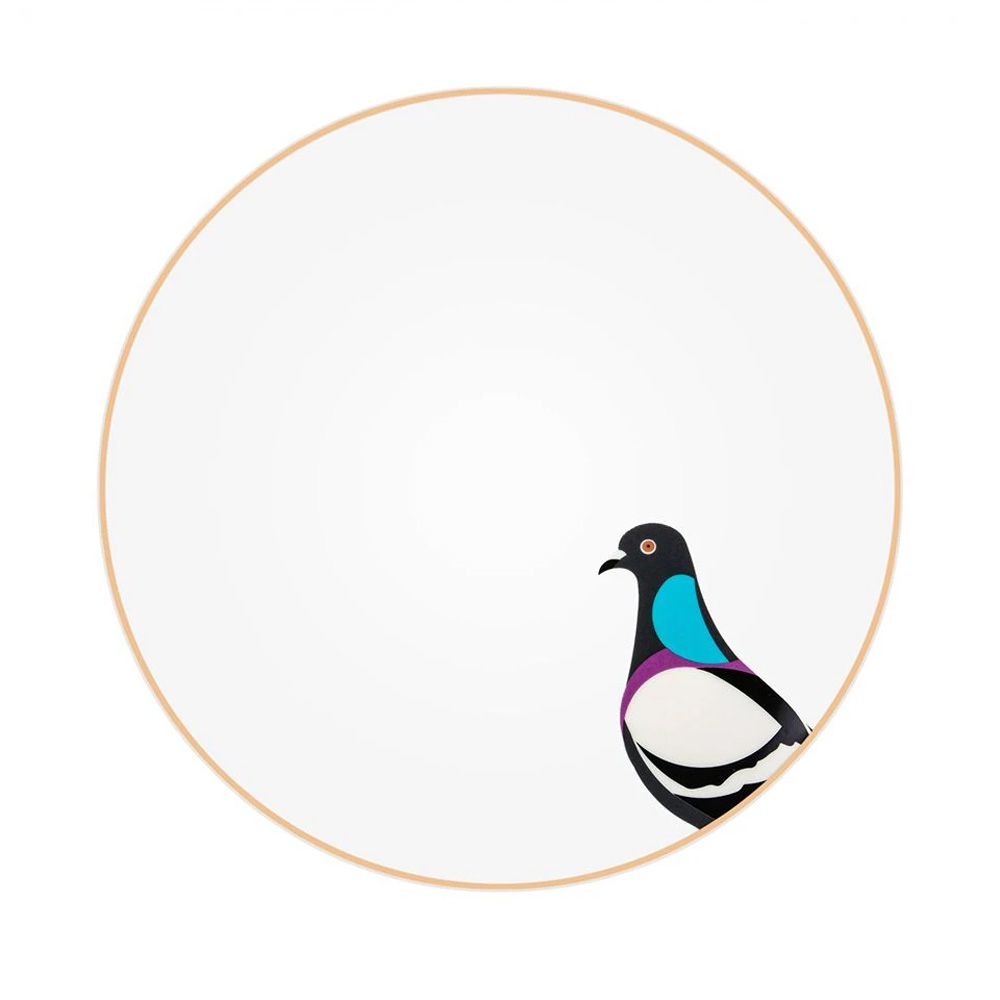Silsal Sarb Dinner Plate - Rock Pigeon