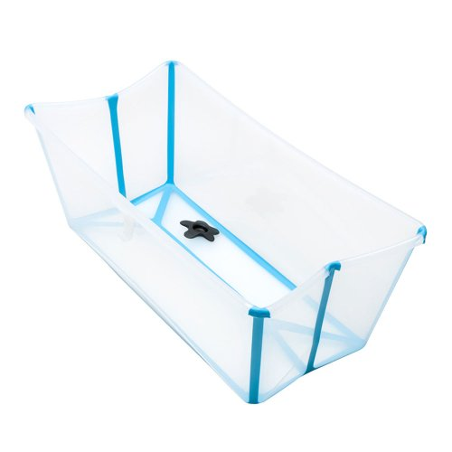 Flexi Bath with Newborn Support Transparent Blue