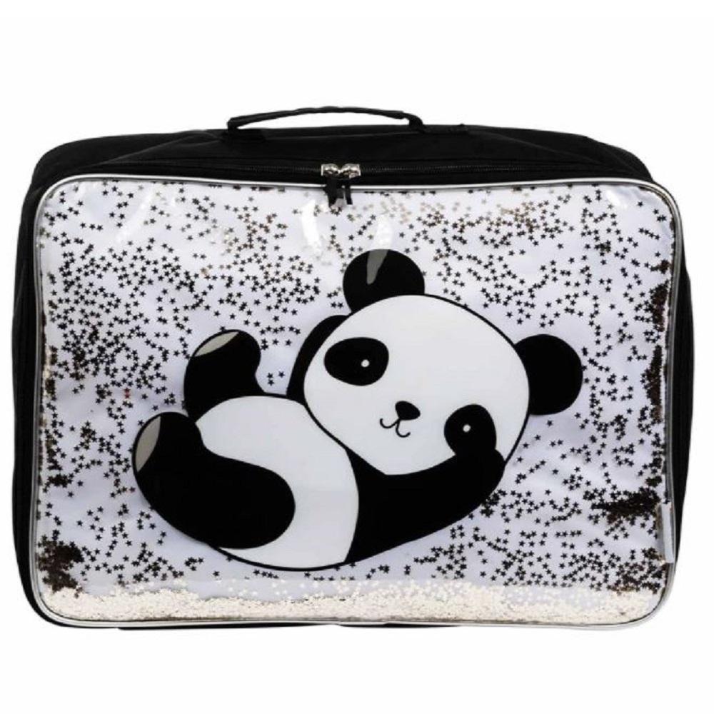 Suitcase Glitter Panda