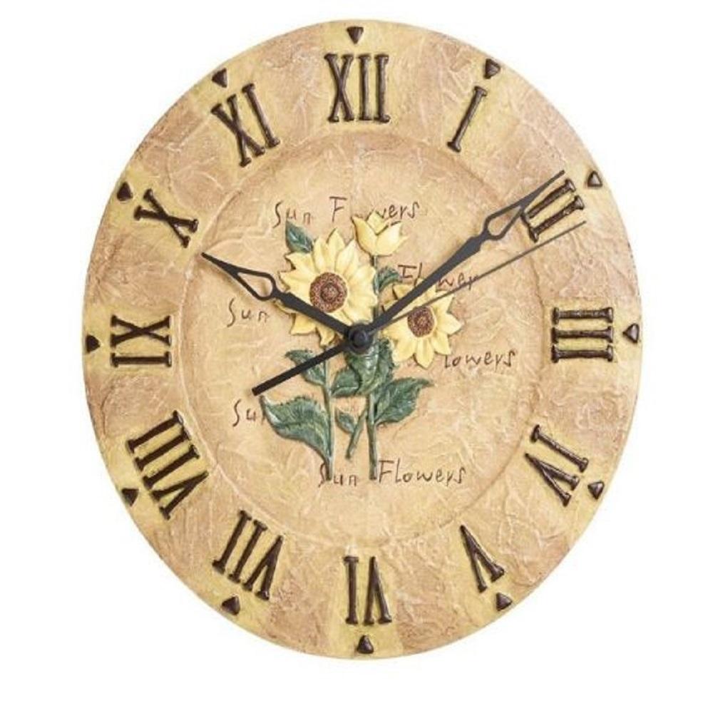 The Garden & Home Co Sunflower Clock (30.5 cm)