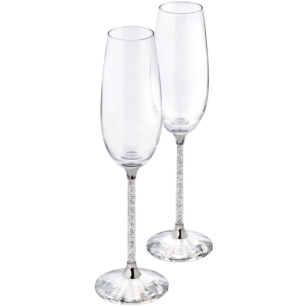 Swarovski Crystalline Toasting Flutes (Set of 2)