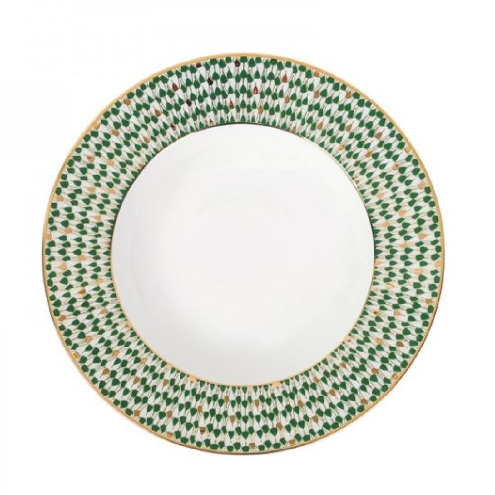 Zarina Swirl Green Soup Plates- Set of 6