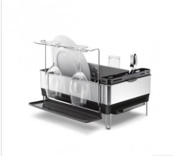 Simplehuman Grey Steel Frame Dish Rack