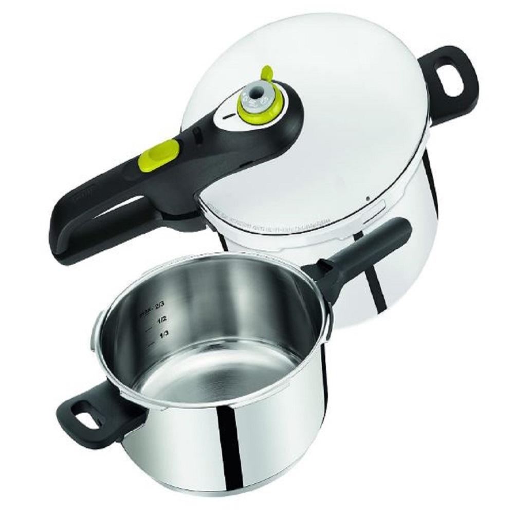 Tefal Secure 5 Pressure Cooker Combo Set 6Ltr+4Ltr